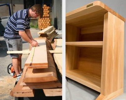 Holzmöbel design  Ergonomischer Bürotisch günstig Designer Schreibtisch Holz Design ...